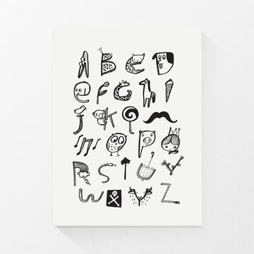 Alphabet Print - Wee Gallery | High-Contrast Newborn & Baby Developmental Toys & Gifts