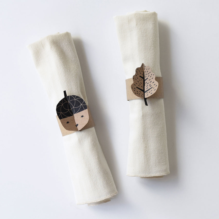 Autumn Napkin Rings - Wee Gallery | High-Contrast Newborn & Baby Developmental Toys & Gifts