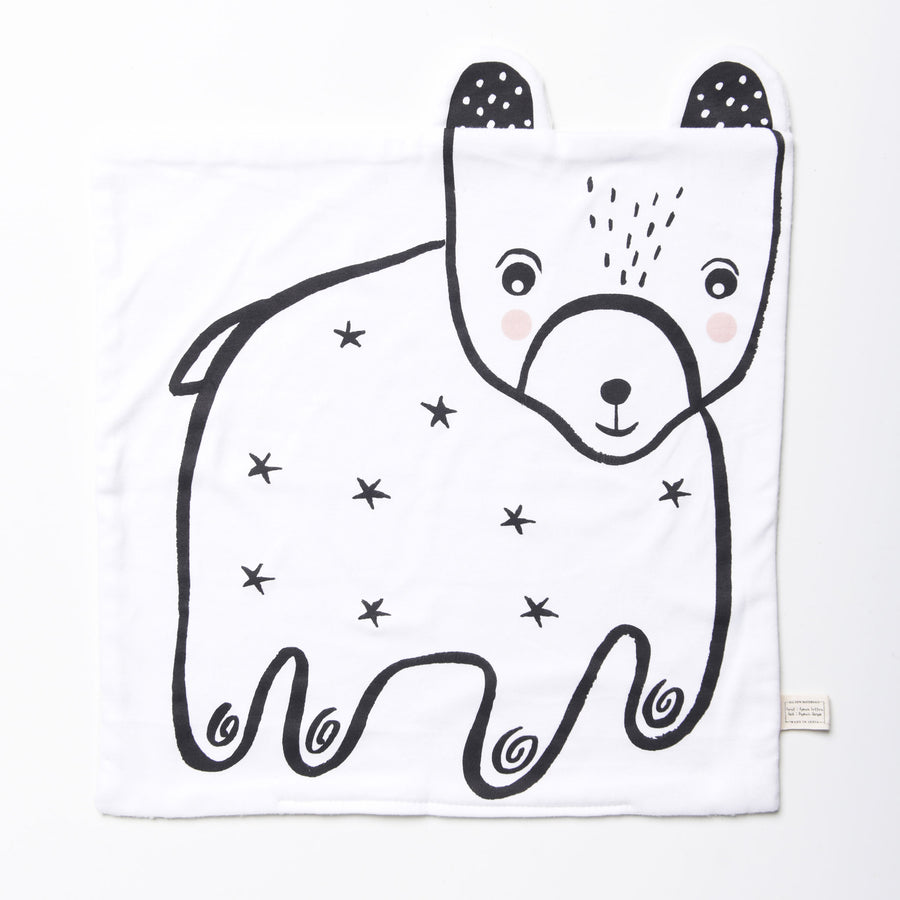 Organic Snuggle Blanket - Bear - Wee Gallery | High-Contrast Newborn & Baby Developmental Toys & Gifts