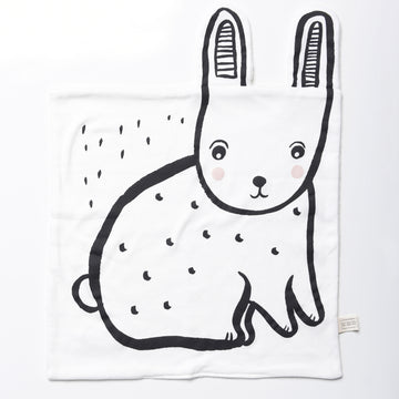 Organic Snuggle Blanket - Bunny - Wee Gallery | High-Contrast Newborn & Baby Developmental Toys & Gifts