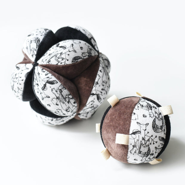 Taggy Ball with Rattle - Woodland 1