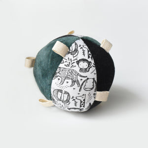 Taggy Ball with Rattle - Wild