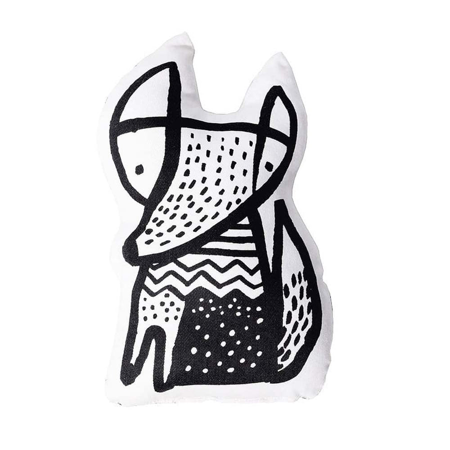 Fox Throw Pillow - Wee Gallery | High-Contrast Newborn & Baby Developmental Toys & Gifts