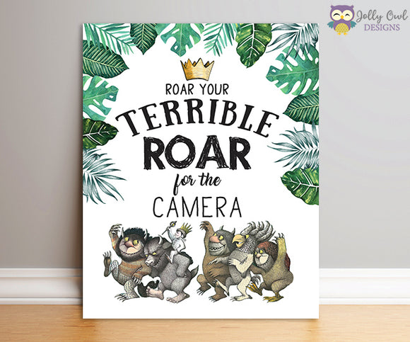 Where The Wild Things Are Party Sign - Roar Your Terrible Roar