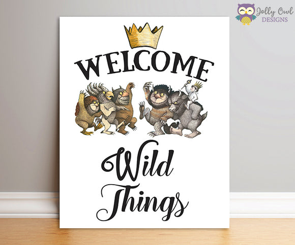 Where The Wild Things Are Party Sign - Welcome Wild Things