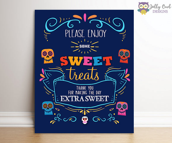 COCO Birthday Party Signs - Sweet Treats