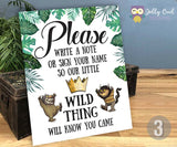 Where The Wild Things Are Party Signs / Digital File Only / 8x10 inches