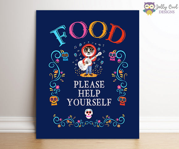 Coco Birthday Party Signs - Enjoy Some Food