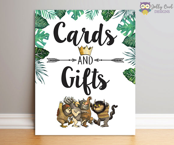 Where The Wild Things Are Party Sign - Cards and Gifts