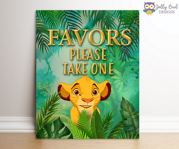 The Lion King Party Signs - Party Favors