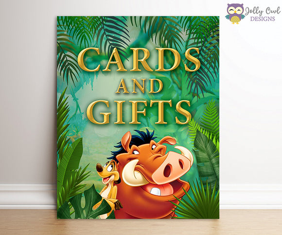 The Lion King Party Signs - Cards and Gifts