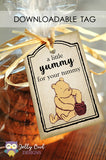 Classic Winnie The Pooh Gift Tag - A Little Yummy for your Tummy