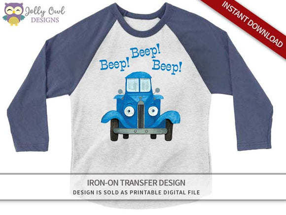 Little Blue Truck Iron On Transfer Shirt Design