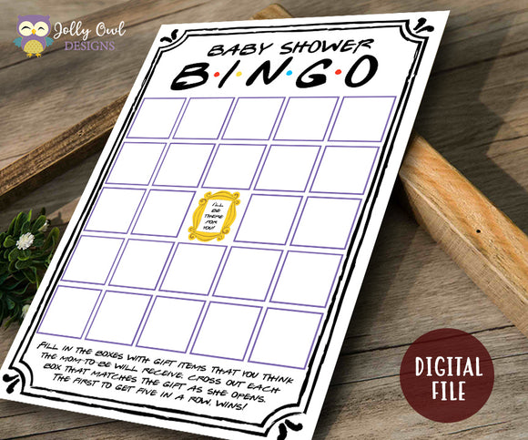 Friends TV Show Baby Shower Game - BINGO