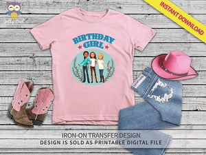 Spirit Riding Free Iron On Transfer Shirt Design-Birthday Girl