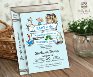 Storybook Themed Baby Shower Invitation - Jolly Owl Designs