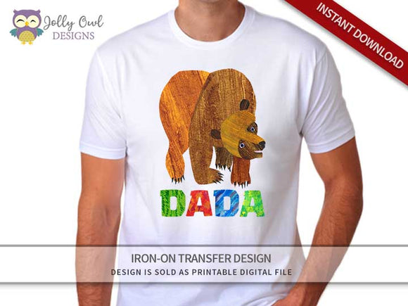 Brown Bear, Brown Bear, What Do You See? Iron On Transfer Design For DADA