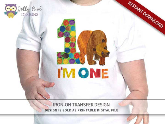 Brown Bear, Brown Bear, What Do You See? Iron On Transfer Design - Jolly Owl Designs