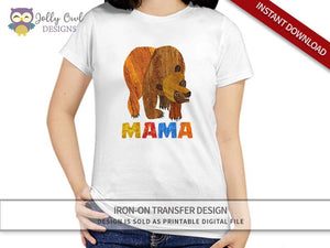 Brown Bear, Brown Bear, What Do You See? Iron On Transfer Design For MAMA - Jolly Owl Designs