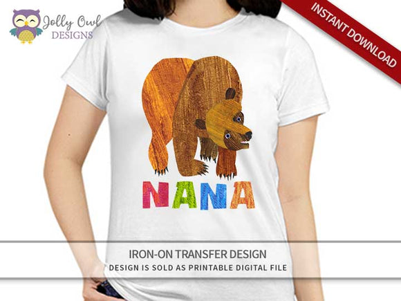 Brown Bear, Brown Bear, What Do You See? Iron On Transfer Design For NANA
