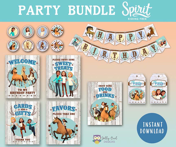 Spirit Riding Free Party Bundle - For Birthday
