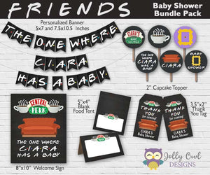FRIENDS TV Party Bundle For Baby Shower - Personalized