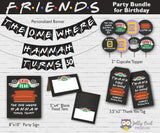 FRIENDS TV Party Bundle For Birthday - Personalized