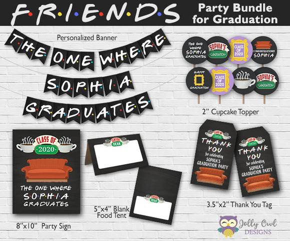 FRIENDS TV Party Bundle For Graduation - Personalized