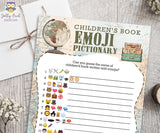 Children's Book Emoji Pictionary Game for Travel Themed Baby Shower