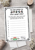 Friends TV Show Baby Shower Game - Baby Food