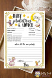 Baby Predictions and Advice Baby Shower Game Activity - Nursery Rhyme Book Theme