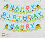 Hey Duggee Happy Birthday Banner - Personalized