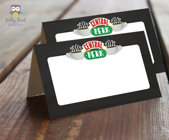Food Tent Label for Friends TV Theme Party - Jolly Owl Designs