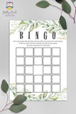 Botanical Greenery Baby Shower Game - Baby BINGO