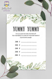 Botanical Greenery Baby Shower Game - Guess the Yummy Baby Food in Jar