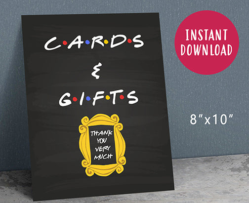 Friends Tv Party Sign - Cards and Gifts