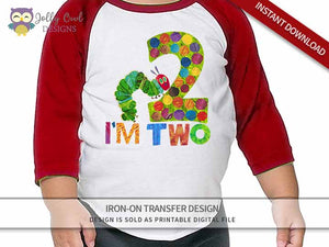 The Very Hungry Caterpillar Iron On Transfer Design for 2nd Birthday Shirt