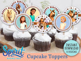 Spirit Riding Free Cupcake Toppers  I  Birthday Party Circles
