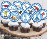 Little Blue Truck Cupcake Toppers | Birthday Party Circles