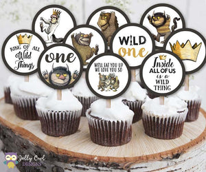 Where The Wild Things Are Cupcake Toppers  |  Birthday Party Circles