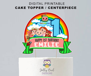 Cocomelon Birthday Party | Digital Cake Topper or Centerpiece