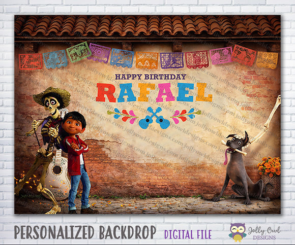 COCO Birthday Party Backdrop