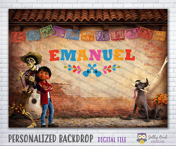 COCO Themed Party Backdrop