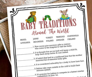 Storybook Book Themed Baby Shower Game - Baby Traditions Around The World