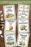 Classic Winnie The Pooh Party Signs Bundle