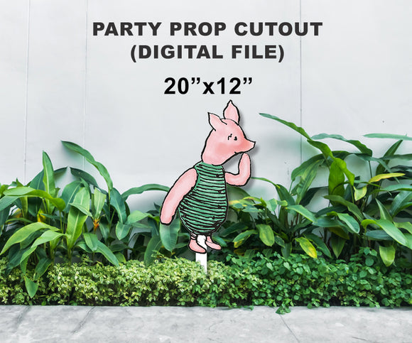 Digital Party Prop Standee Cutout - Piglet
