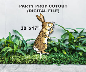Digital Party Prop Standee Cutout - Rabbit - Jolly Owl Designs