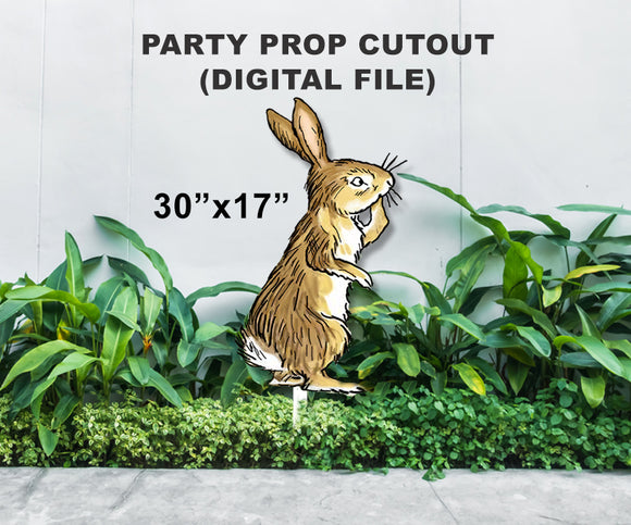 Digital Party Prop Standee Cutout - Rabbit