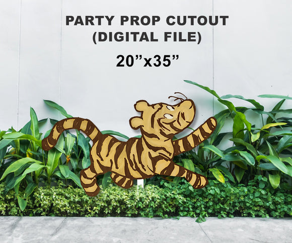 Digital Party Prop Standee Cutout - Tigger
