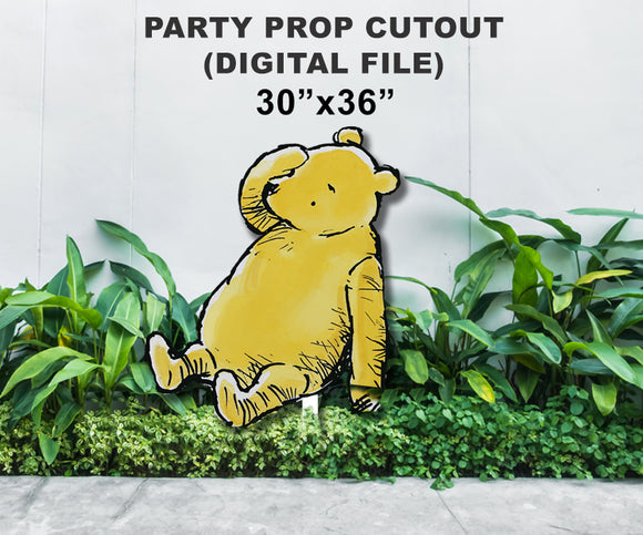 Digital Party Prop Standee Cutout - Classic Winnie The Pooh